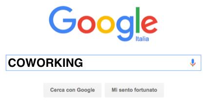 Coworking Search su Google