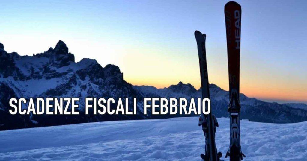 Scadenze fiscali febbraio 18