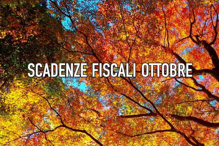 Agenda fiscale ottobre 2018