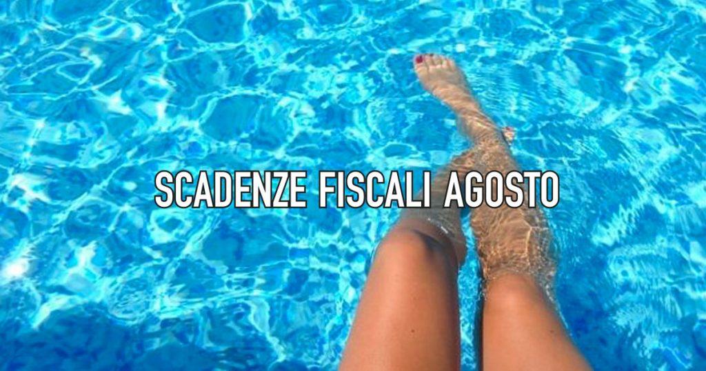 Le Scadenze fiscali di agosto 2019