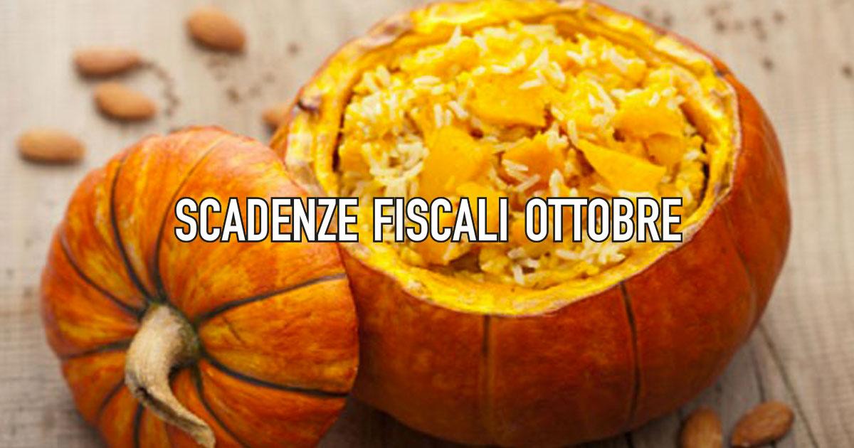 Scadenze fiscali ottobre 2019