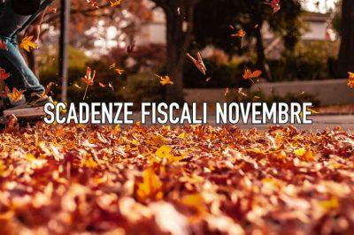 Novembre 2019 - Tutte le scadenze fiscali