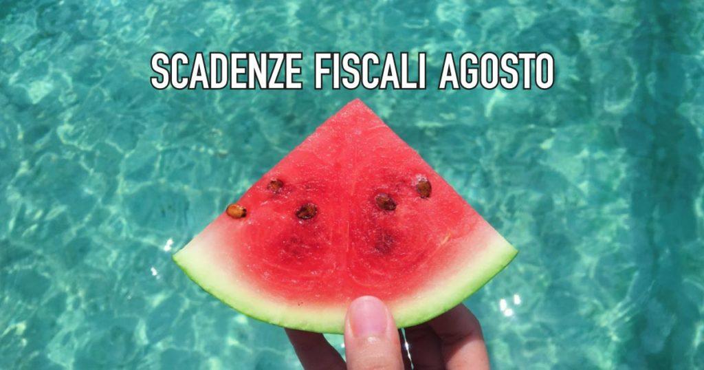 tutte le scadenza fiscali di agosto 2020