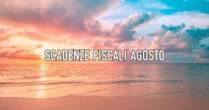 scadenze fiscali agosto 2021