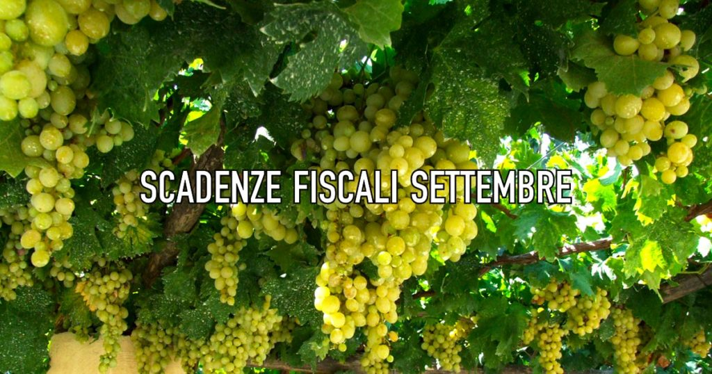 scadenze fiscali settembre 2021